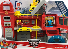Transformers Rescue Bots Griffin Rock Firehouse Headquarters w/ Cody Burns
