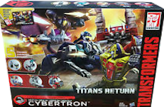 Transformers Generations Siege on Cybertron - Series Pack with Ginrai (Takara's Powermaster Optimus Prime), Energon Tidal Wave, Metalhawk, and Decepticon Clone Pounce