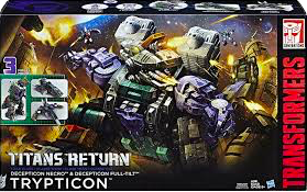 Transformers Generations Trypticon w/ Full-Tilt and Necro