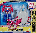 Transformers Cyberverse Optimus Prime & Sky Turbine