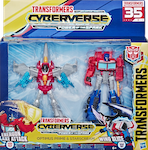 Transformers Cyberverse Optimus Prime & Starscream (Cyberverse 2-pk)