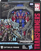 Transformers Studio Series 44 Optimus Prime (DotM w/ trailer/weapons rack jet pack)