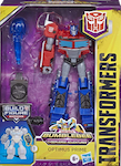 Transformers Cyberverse (2018-) Optimus Prime Deluxe w/ Build-A-Figure Maccadam