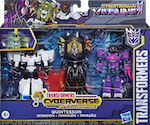 Transformers Cyberverse (2018-) Cybertronian Villains Quintesson Invasion w/ Shockwave, Prowl & Quintesson Judge