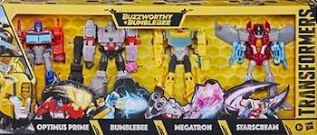 Transformers Generations Evergreen Multipack: Optimus Prime, Megatron, Bumblebee, Starscream (Cyberverse Warrior)
