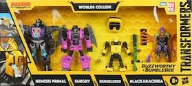 Transformers Generations Worlds Collide: Nemesis Primal, Fangry, Bumblebee, Blackarachnia